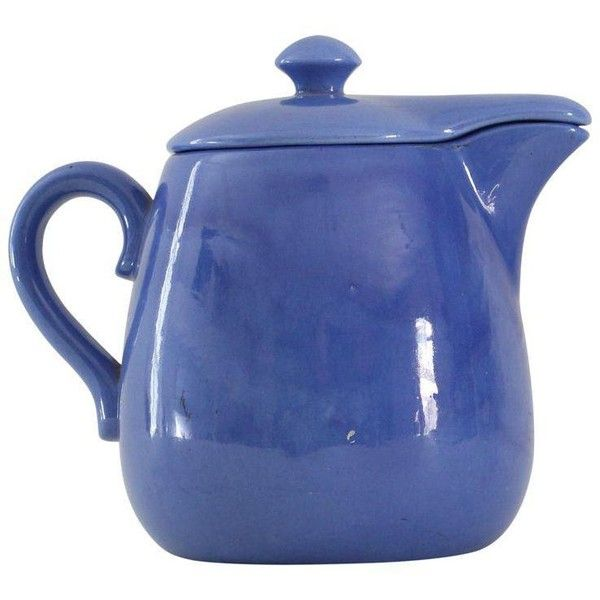 Blue Farmhouse Style Pitcher (4.950 RUB) ❤ liked on Polyvore featuring home, kitchen & dining, serveware, pitchers, blue pitcher, ceramic serveware, ceramic pitcher and blue ceramic pitcher