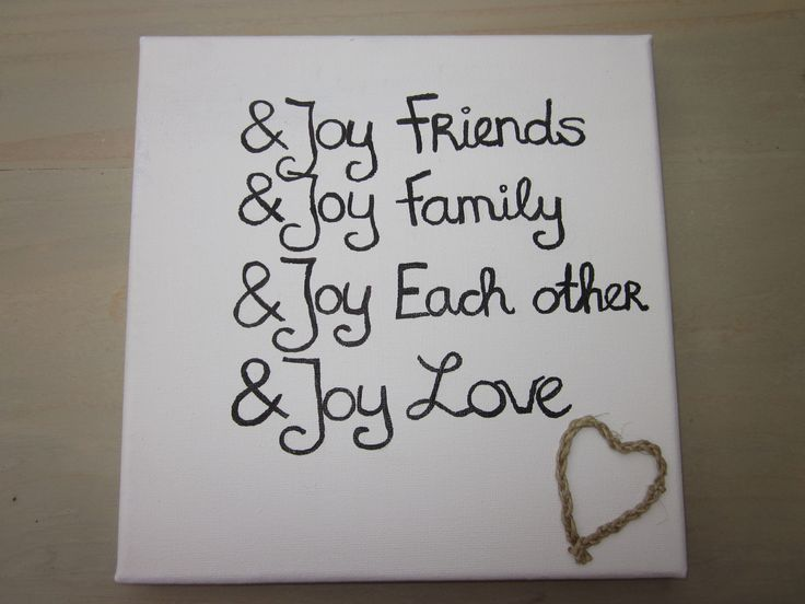 Canvas met tekst. Trendy woonaccessoires bij & Joy Love! Kijk op facebook bij N Joy-Love.
