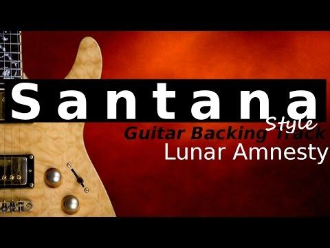 Carlos Santana Latin Style Backing Track Am EricBlackmonMusicHD - YouTube