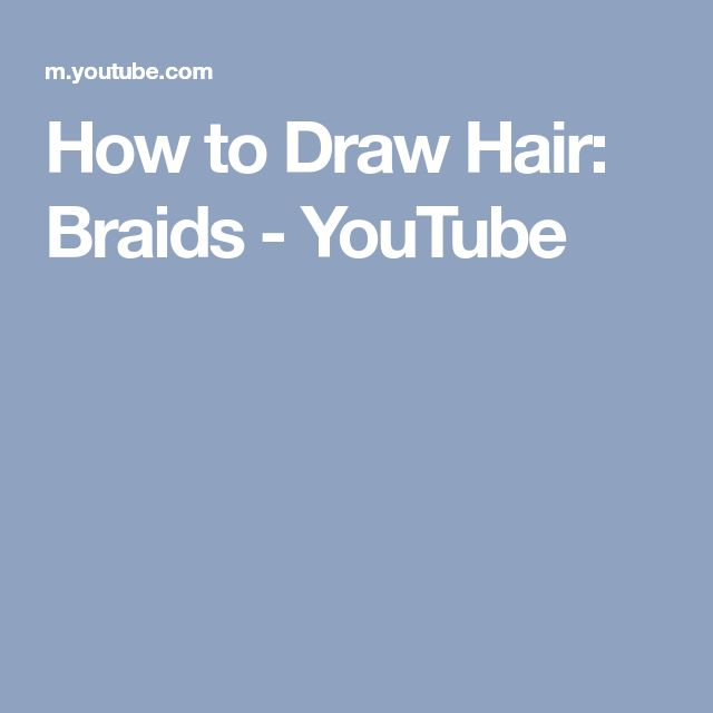how to draw braids hair