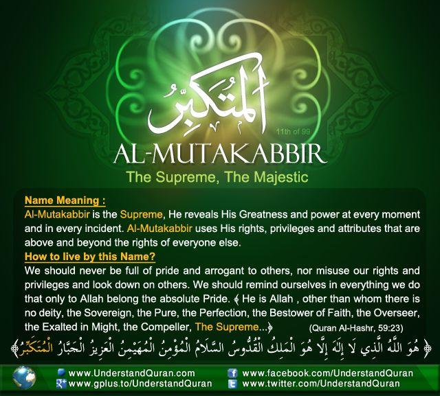 Al Mutakabbir!