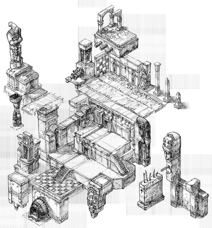 Isometric Set.Draft01 by CrankBot.deviantart.com on @deviantART