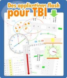 Des applications flash pour TBI (proposées sous licence Creative Commons BY-SA) http://www.informatique-enseignant.com/applications-flash-tbi/