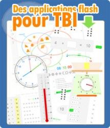 Des applications flash pour TBI (proposées sous licence Creative Commons BY-SA) http://www.informatique-enseignant.com/applications-flash-tbi/