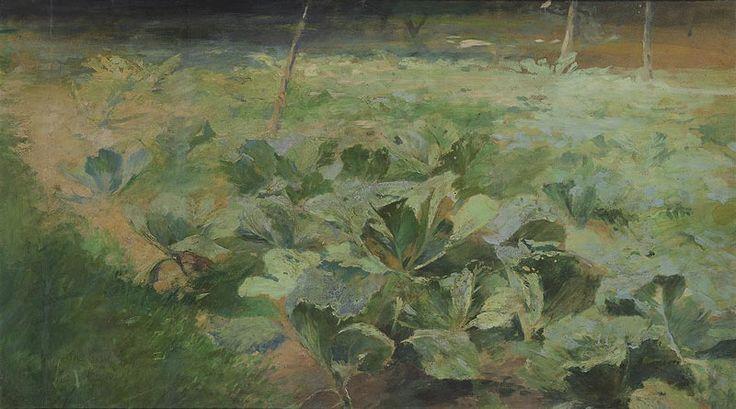 SLAVÍČEK ANTONÍN (1870 – 1910) Gabbage field oil on cardboard, 51,5 x 88,5 cm Adolf Loos Apartment and Gallery