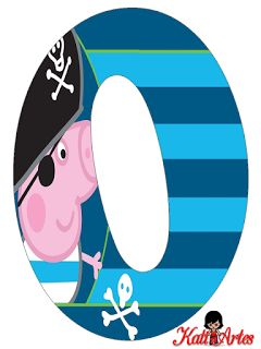 Alfabeto de George Pig Pirata.