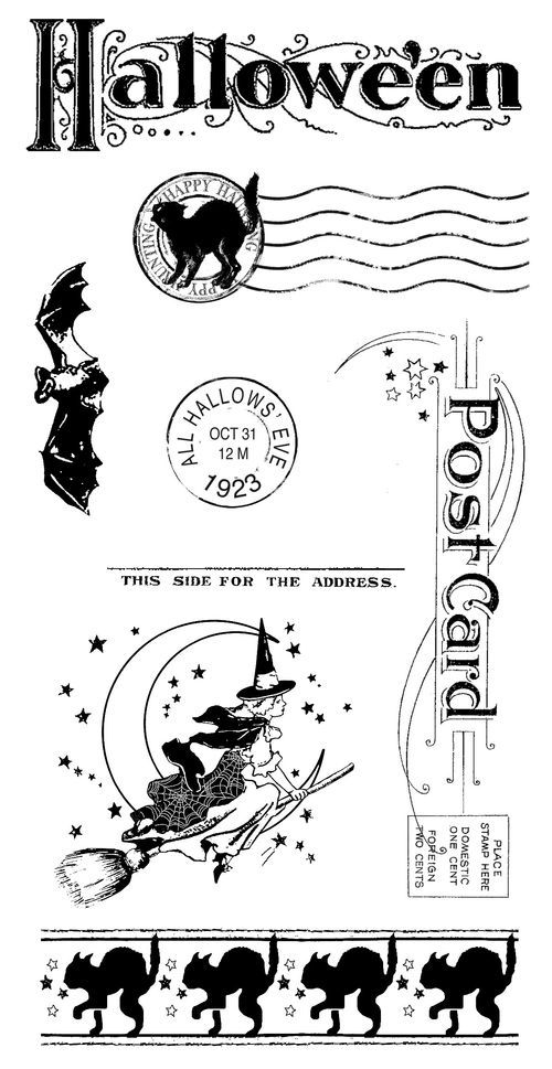 Happy Haunting Cling Stamps 3! #graphic45  These stamps are so cute!