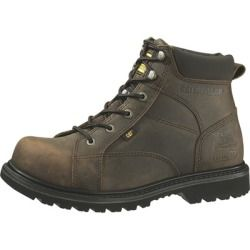 Cheap Caterpillar Mens Whiston Steel Toe Work Boots Dark Brown 7 new - Traditional styling and a durable rubber outsole combine in this steel toe boot featuring Super Welt construction for forefoot...