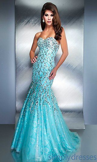 Long Strapless Sweetheart Mermaid Gown at PromGirl.com 5b08db4456