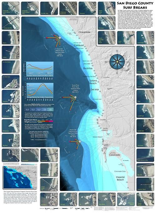 San Diego County Surf Map