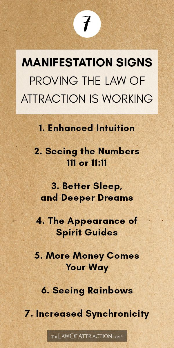 7 Important Signs The Law Of Attraction Is Working For You Law Of Attraction Manifestation Law Of Attraction Manifestation