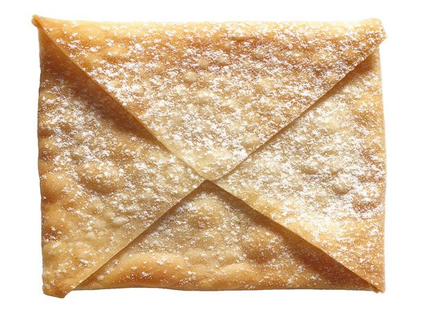 Wonton Envelopes-The Envelope Please, And The Award Goes To......you can fill these with nutella, or your favorite jam and dust with confectioner's sugar.