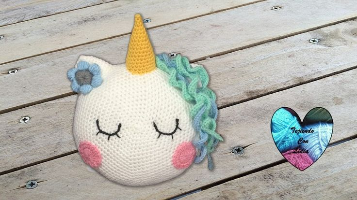 Cojín Unicornio tejido a crochet paso a paso