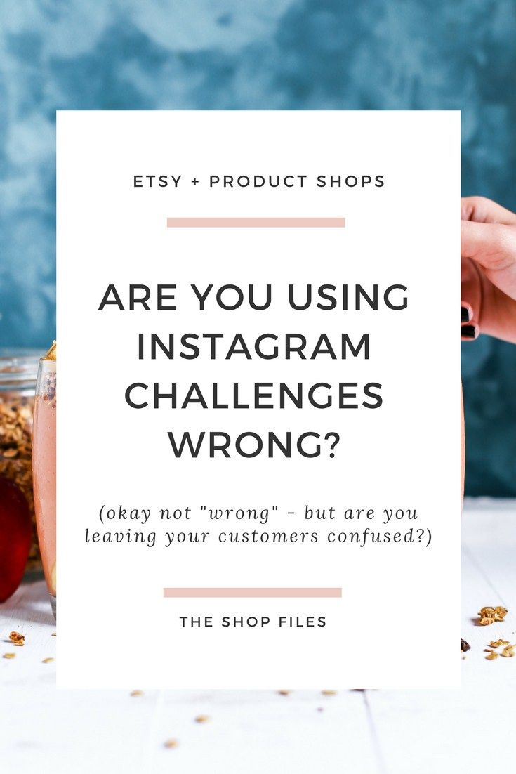 Are you Doing Instagram Photo Challenges Wrong? - The Shop Files