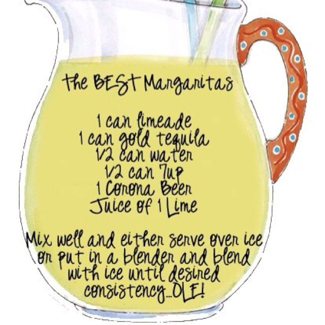Margarita recipe! This is the best! Pitcher of this some friends on a float in the lake! best times!