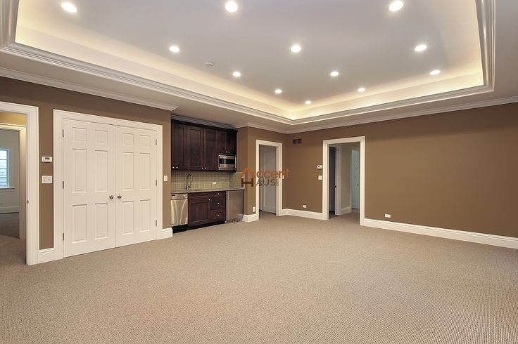 Box Patterned Coffered Ceiling in Family Room in a House Ajax