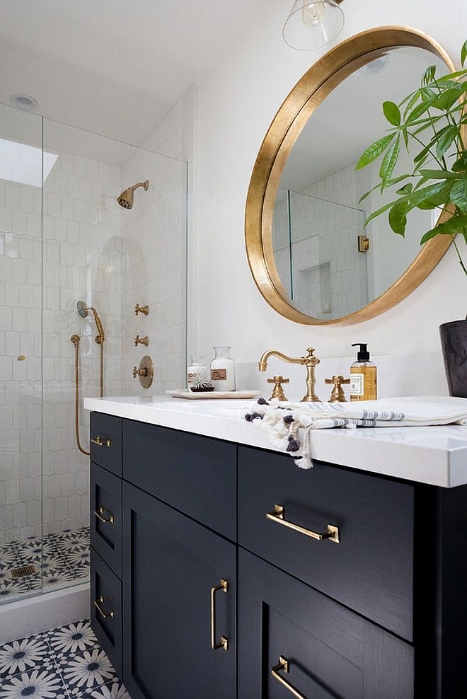 Dream Bathroom / Brass Mirror. The Brass Mirror Is From Madegoods And Itu0027s  Called The