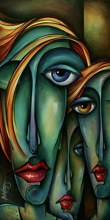 Trio Painting by Michael Lang