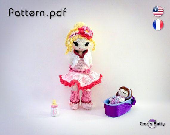 Pattern  Berit is Bottle-feeding her Baby by CrocsBetty on Etsy