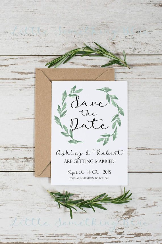 This listing is for a 6x9 personalized Greenery Wedding InvitationSet (digital file ONLY). Please let me know if you want to make a change to the design. The finished proof will be emailed to you in PNG form. You may print as many cards as you like from home or a professional