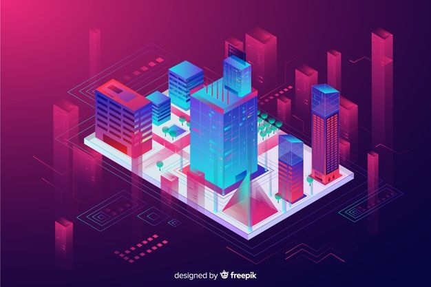 Download Isometric Smart City Background For Free In 2020 City Background Smart City Vector Free Download