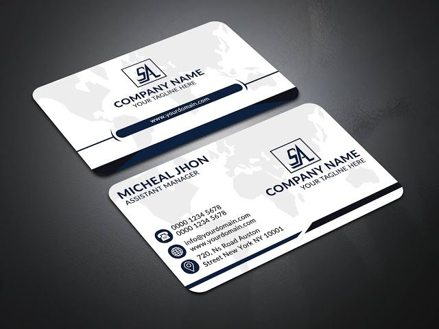 This Is A Business Card Template This Template Contains 300dpi Print Ready Layerd Psd Files C Business Card Template Corporate Business Card Business Cards