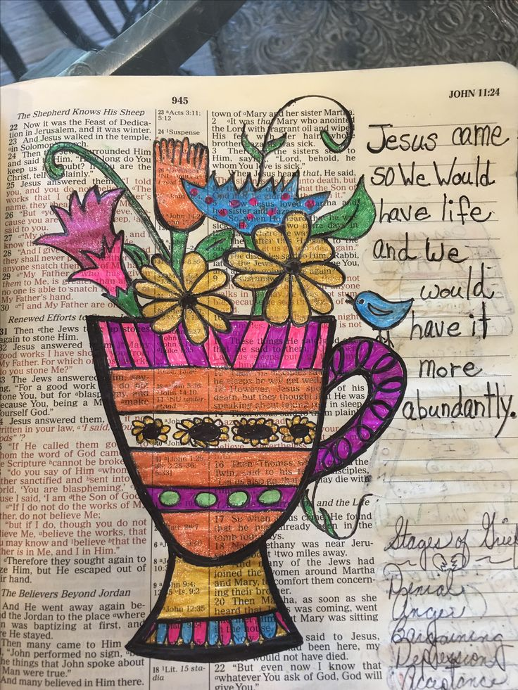 Jesus came to give us life. #biblejournaling