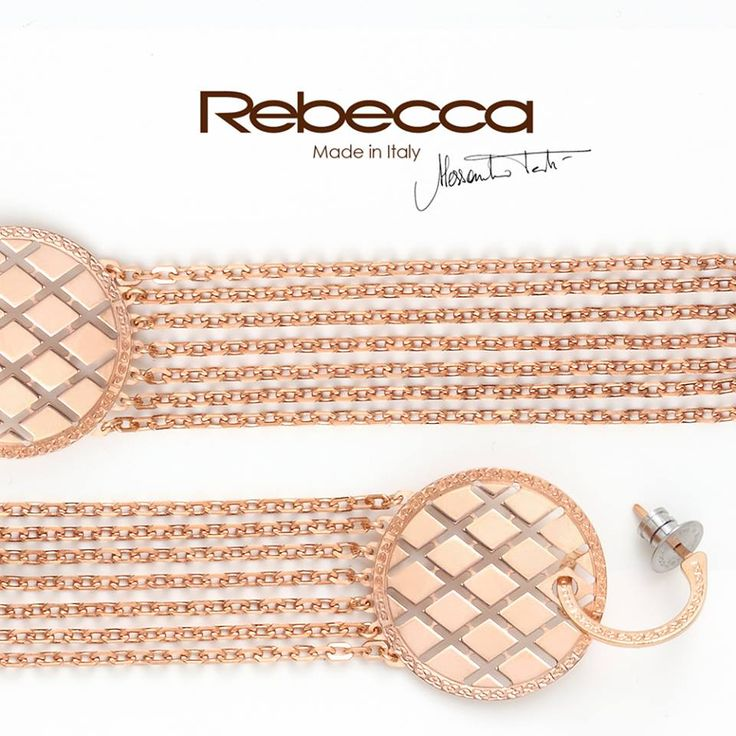 All lights on you! Spotlight on Melrose 17 glamour, check out the earrings in 18kt gold plated bronze!  #Rebeccajewels #jewelry #madeinitaly