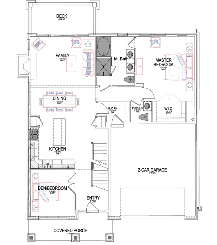 Cahoon Ivory Home Floor Plan