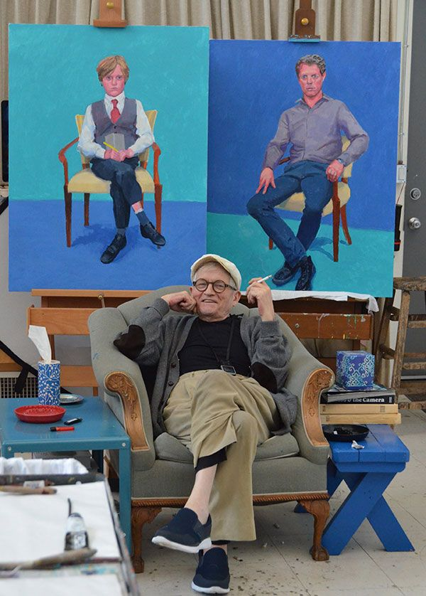 David Hockney at his studio in Los Angeles in March this year