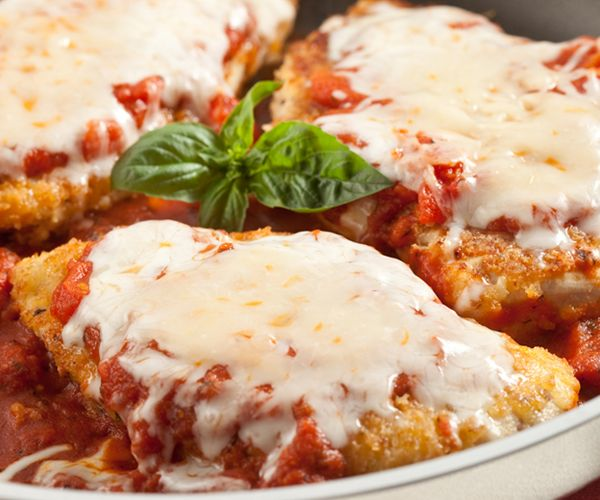 Skillet Chicken Parmesan This was really good. I used Spice Islands' Italian Breadcrumbs.