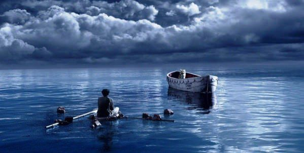 Life of Pi (2012) – A young man is left on a boat with a tiger, trying to stay alive.