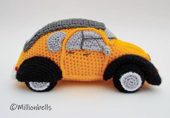 Amigurumi 2CV Inspired French Classic Car Crochet PATTERN PDF   Etsy   397x570