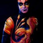 Bristol Body Painting Jam 2014 'Rising of #Phoenix'. inspired by artist #Chistos Karapanos. Image by Tony Cooney.