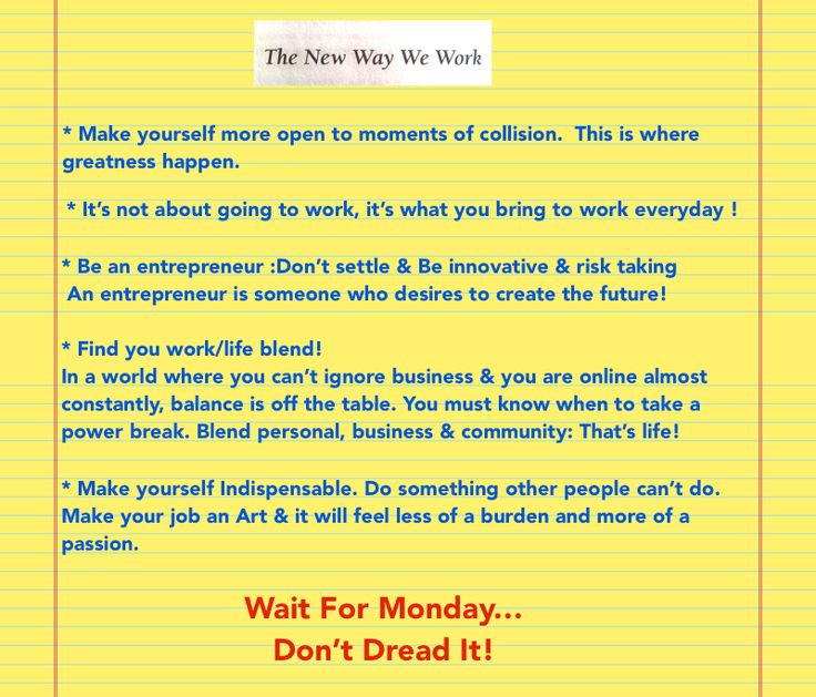 Chapter 8: Reboot you / The New Way We Work