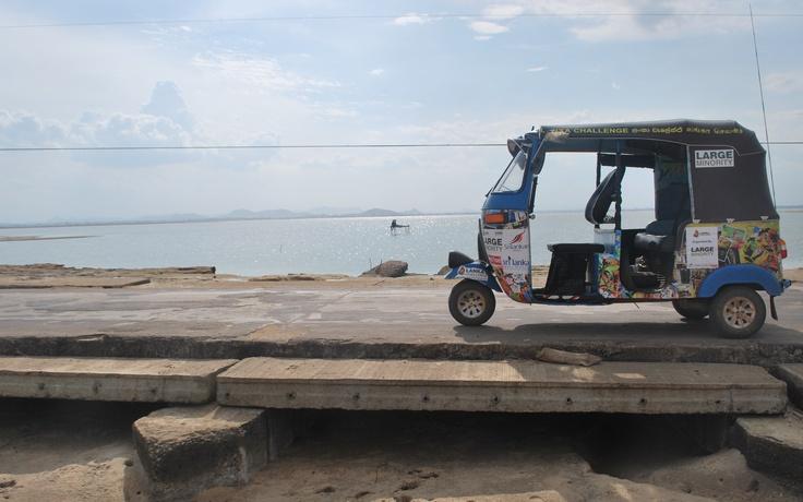 A picture of my Tuk Tuk in Sri Lanka.