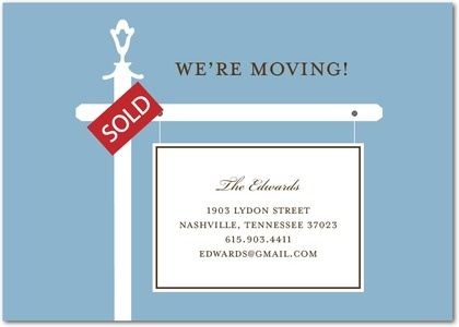 Moving Announcements Realtor's Sign