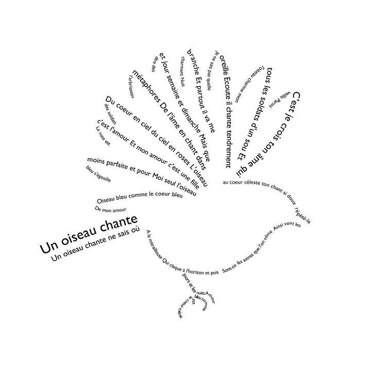 """""""Un oiseau chante"""" de Guillaume Apollinaire."""