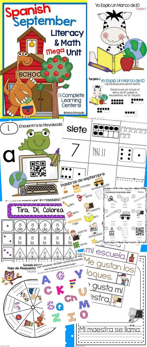 Your kiddos will love this Spanish Literacy and Math Mega Bundle! Come and check it out :) Created by Alma Almazan ---Also available in English.