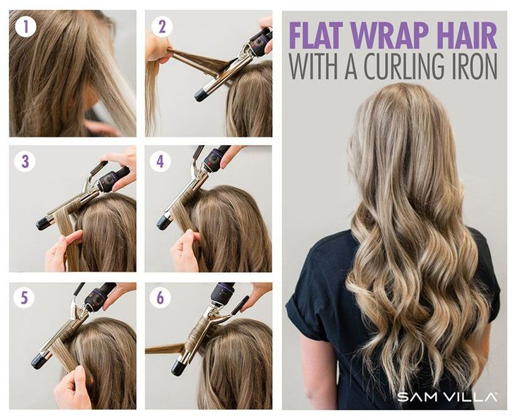 Flat Wrap Hair With A Curling Iron Hair Tutorials