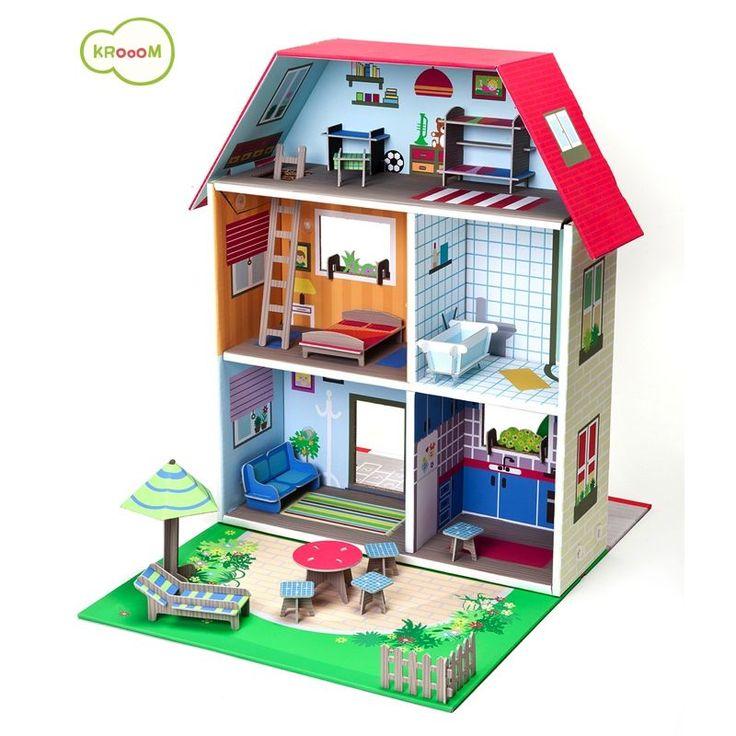 Jouet en carton, maison de poupée en carton très résistant.