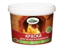 Краска ВД для печей Ecoterra красно-коричневая 2.5кг