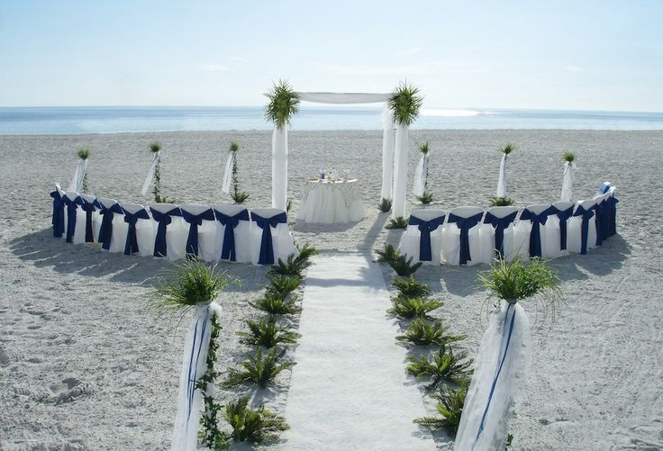 Intimate beach wedding ceremony on the beach