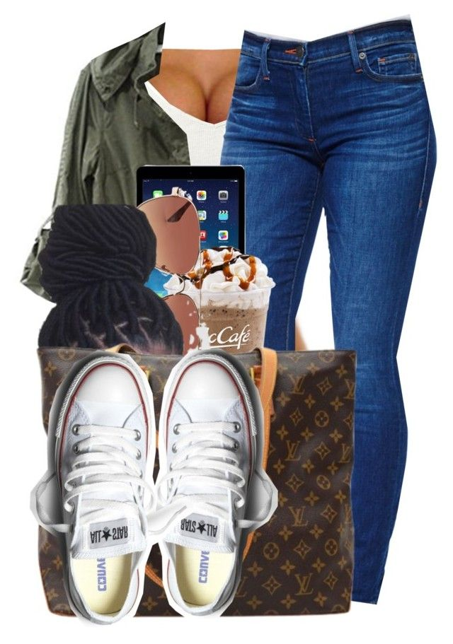 """hows  everybdy tday"" by lonna19thuggin ❤ liked on Polyvore featuring True Religion, Forever 21, Louis Vuitton and Converse"