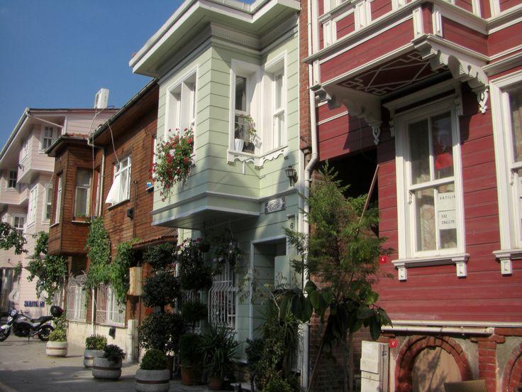 Houses of Eyup, Istanbul, Turkey.