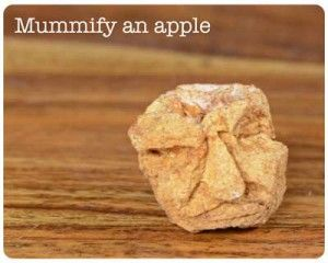 how to mummify an apple - cool Egyptian craft tutorial for kids