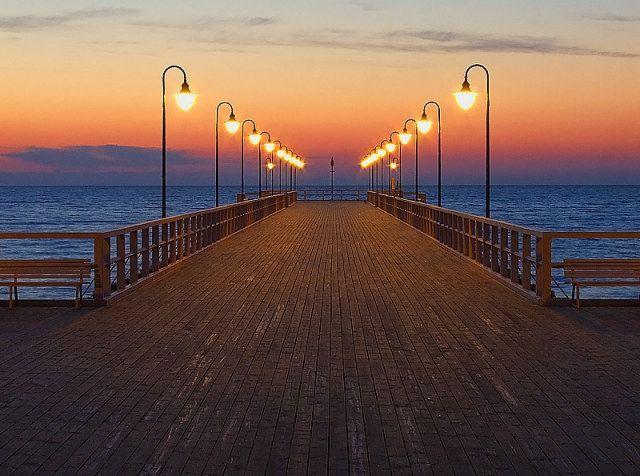 #Pier in #Gdynia Orłowo, #Poland ->