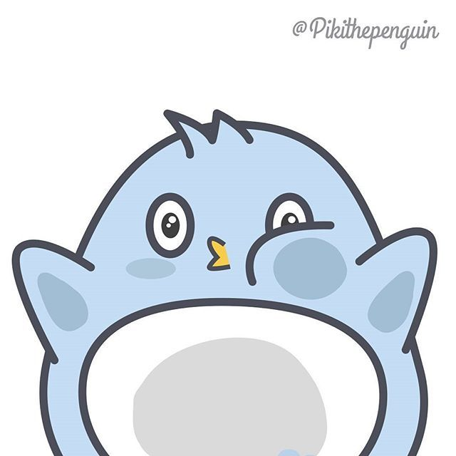 Ouch Piki crashes into the screen.  #Piki #pikithepenguin #penguinslover #penguins #kawaii #picoftheday #instagram #cute #squash #pic #vector #ilustracion #illustration #character #linecreator #line #stickers #redbubble #pusheen #kakaofriends #linefriend