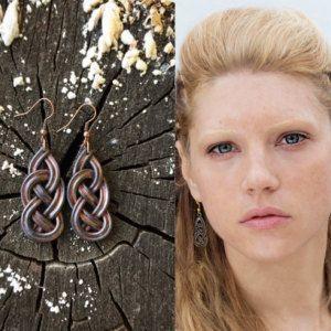 Celtic knot earrings Lagertha earrings Vikings irish earrings viking jewelry Siggy earrings
