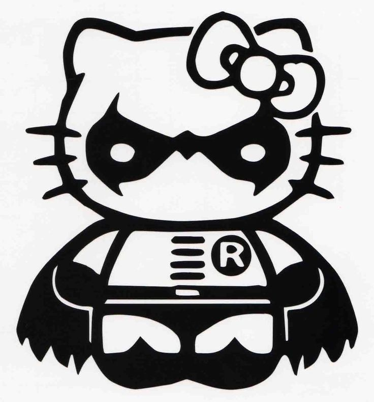 Hello kitty robin car window vinyl decal bumper sticker batman dark knight hellokitty robin